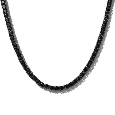 TENNIS CHAIN 4MM BLACK W/ BLACK STONE