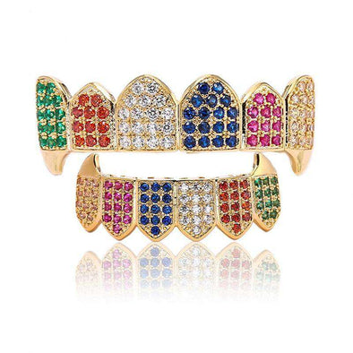 Grillz Bar Multicolor Diamonds Edition