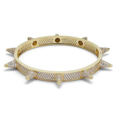 Spike Bangle Bracelet Yellow Gold