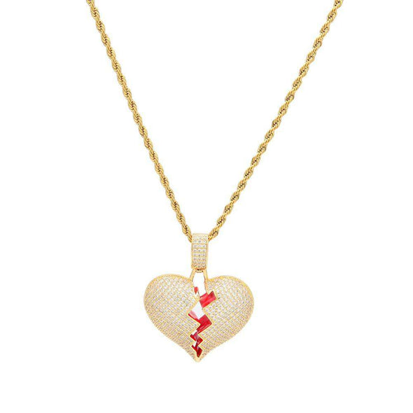 Frozen Heart Pendant Yellow Gold / 24