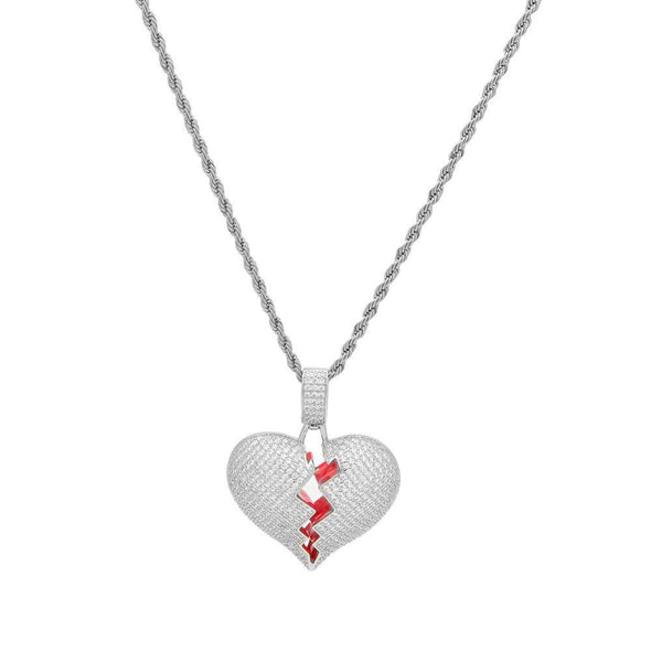 Frozen Heart Pendant White Gold / 24