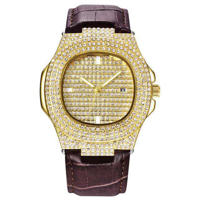 Leather Yellow Gold Royal Watch
