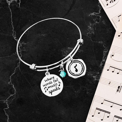 Where Words Fail Charm Bracelet