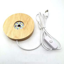 Load image into Gallery viewer, Wooden LED Stand