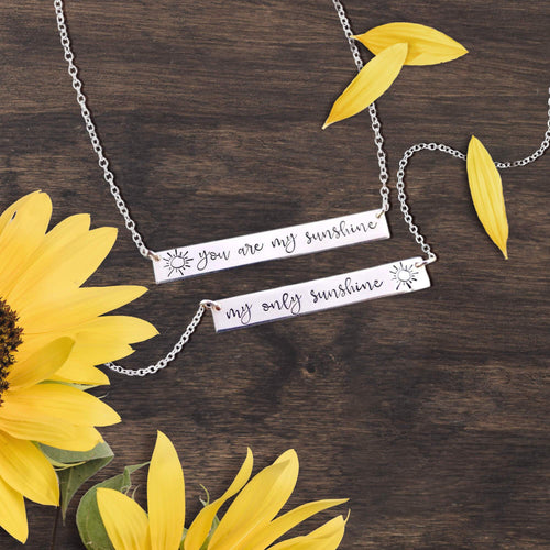 You Are My Sunshine Bar Necklace Bundle