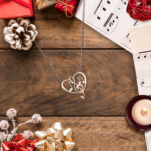 Rosegold Musical Heart Necklace