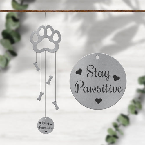 Stay Pawsitive Dog Windcharms