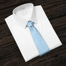 Load image into Gallery viewer, Light Blue Business and Solid Tie