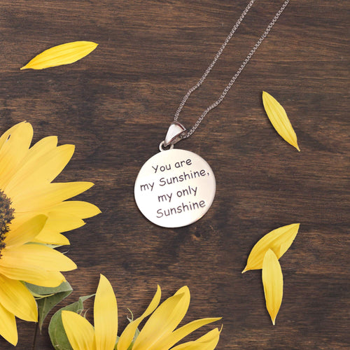 You Are My Sunshine Round Necklace