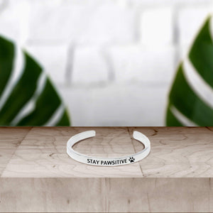 Stay Pawsitive Cuff Bracelet