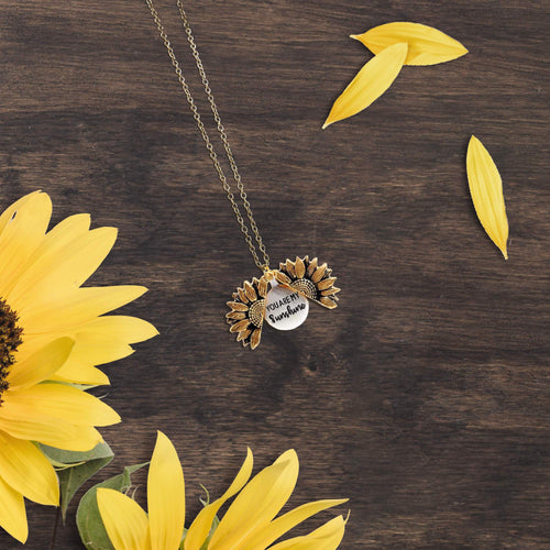 You Are My Sunshine Sunflower Locket