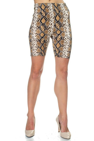 Animal Print Biker Shorts-Azura Exchange