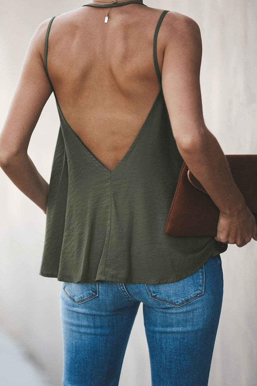 Green Good To Button up Cami Tank-Tops, Tank Tops-Azura Exchange