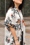 Multicolor Chrysanthemum Kimono Dress-Dresses, Floral Dresses-Azura Exchange