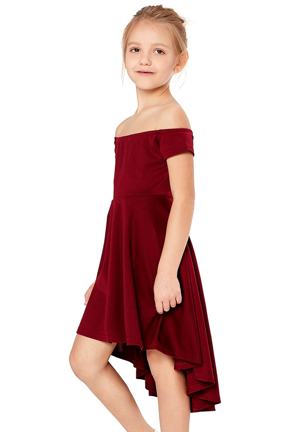 Red All The Rage Skater Dress for Little Girls-Baby&Kids, Kids Dresses-Azura Exchange