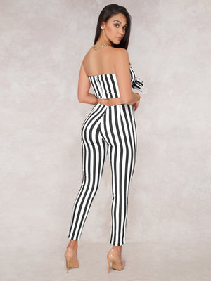 striped sexy SET-NCFashions