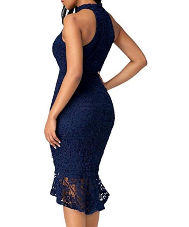 Sleeveless Lace Dress | NCFashions | |curvy dress| slim girl dress