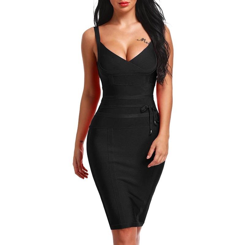 Black Bandage Dress-NCFashions