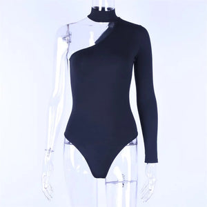 black off the shoulder bodysuit-NCfashions