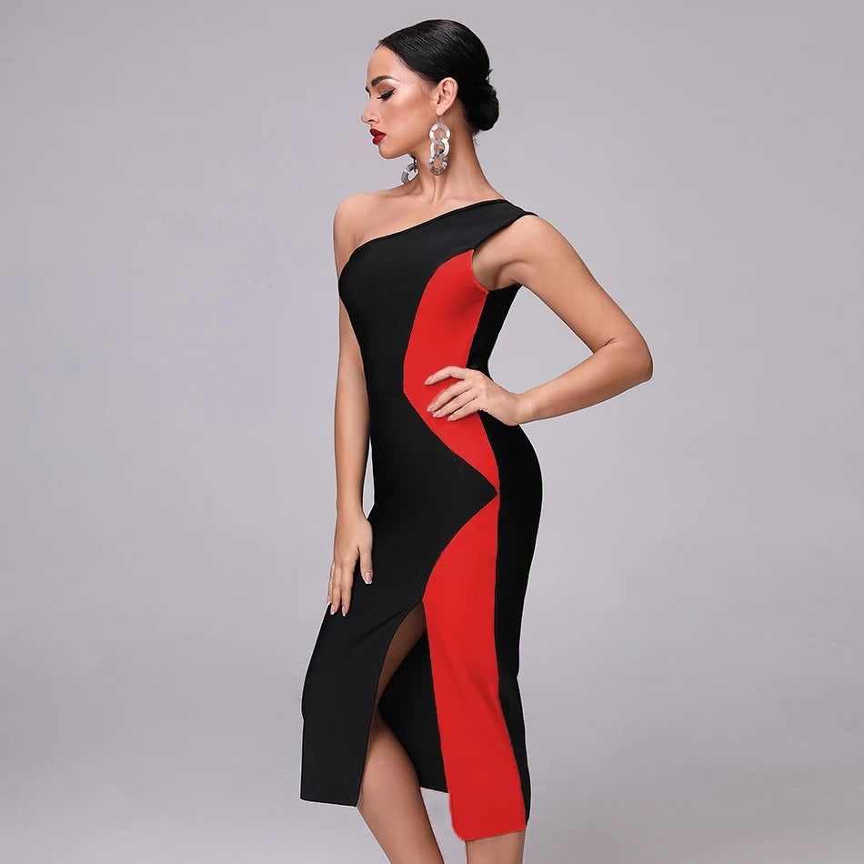 red bandage dress-NCfashions