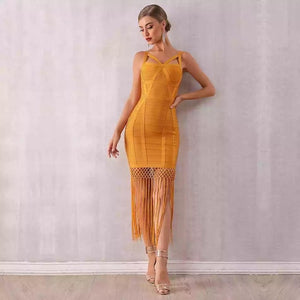 night out dress| NCFashions| |yellow dress| |sleeveless out dress|