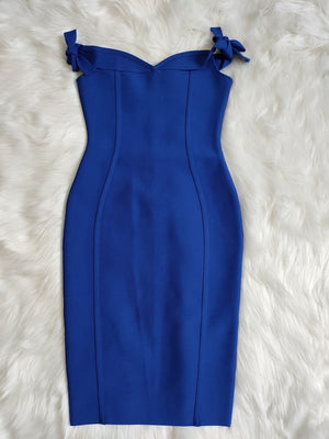 blue bandage dress-ncfashion