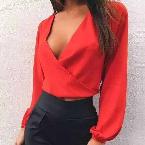 sexy long sleeve blouse