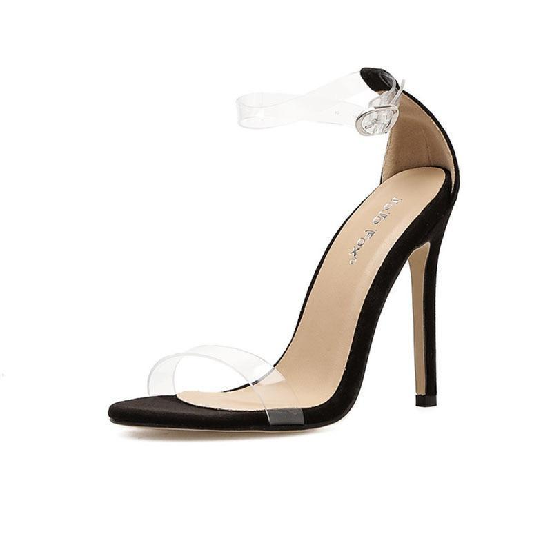 Buckle Belt PVC Woman Sandal |NCFashions | Heeled Sandals |Women Sandals | Ladies Transparent Shoes |Fashion shoes