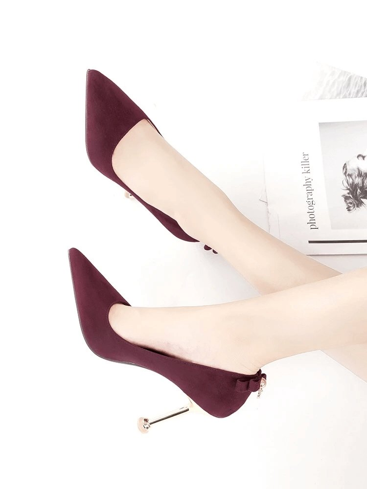 Suede Pumps Shoes