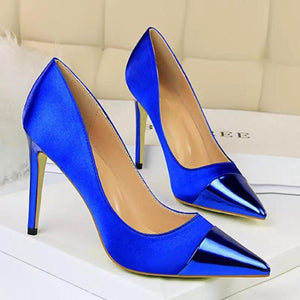 Women High Heels Pumps Sexy Silk Shoes