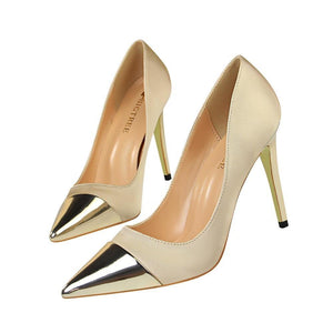 Women High Heels Pumps Sexy Silk Us5.5/eu36 / Golden Shoes
