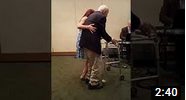Chuck Himelhoch Dances With Daughter on His 100th Birthday