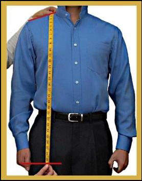 How to measure your jacket length