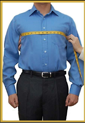 how to measure your front chest width