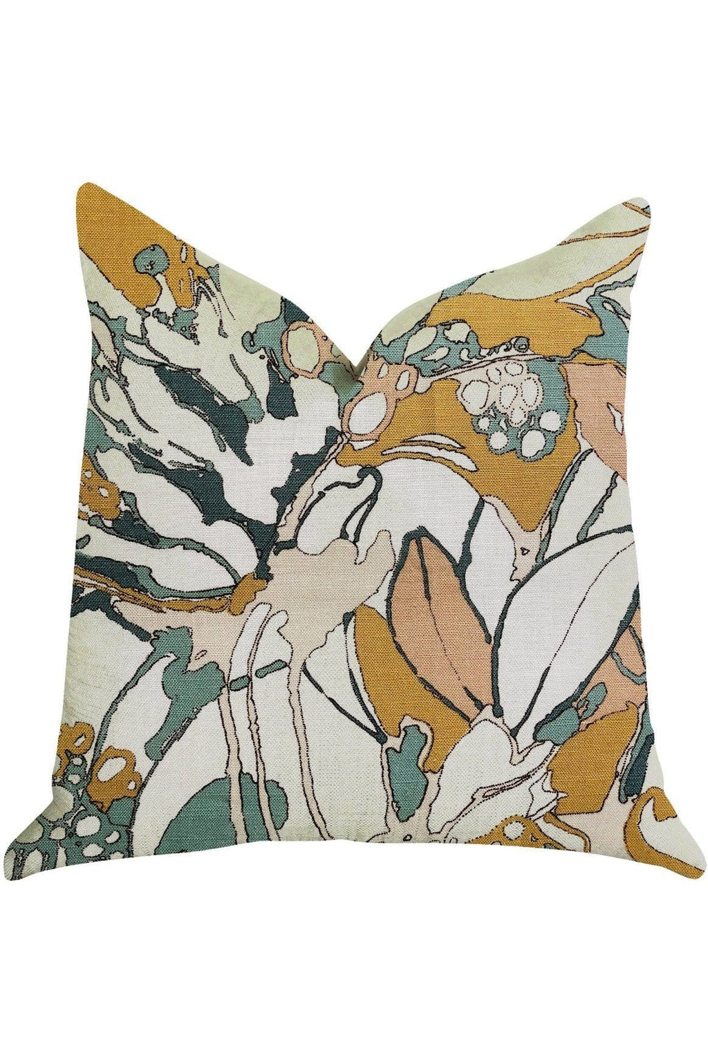 Camellia Floral Multi Color Luxury Throw Pillow - Himelhoch's