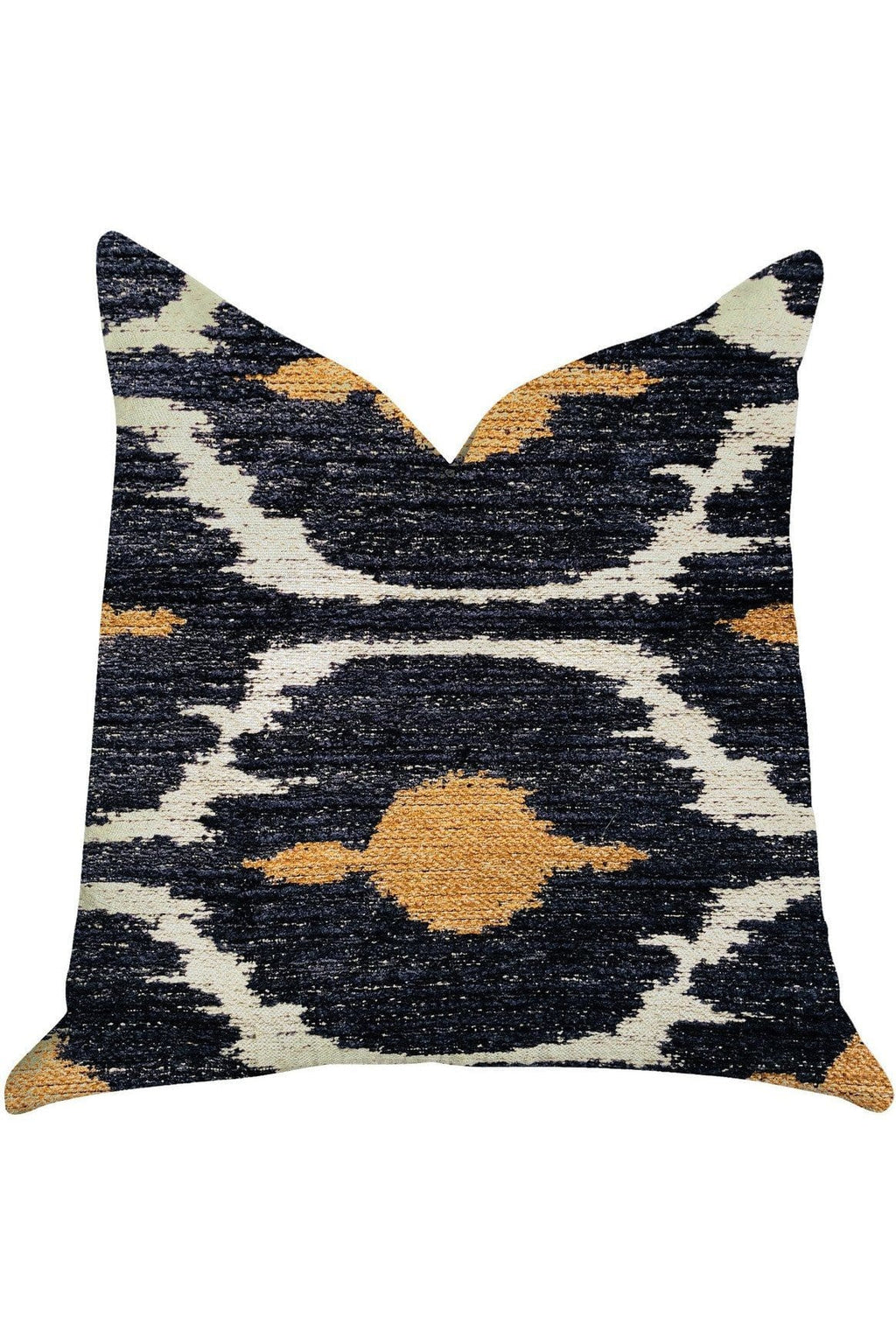 Bohemian Blue and Orange Ikat Luxury Throw Pillow - Himelhoch's
