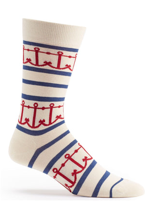 Interlocking Anchors Sock - Himelhoch's