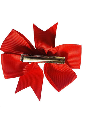 "Set of 3- RED 3"" Ribbon Bow Clips - Himelhoch's"