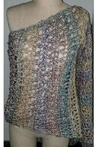 Hand Crocheted One Sleeve Poncho - Himelhoch's
