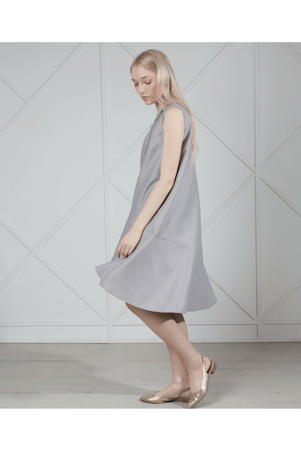 Gray linen dress - Himelhoch's
