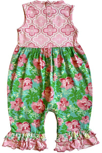 AnnLoren Easter Spring Rose Floral Baby Girls' Romper Toddler Jumpsuit Sizes 3M - 24M - Himelhoch's