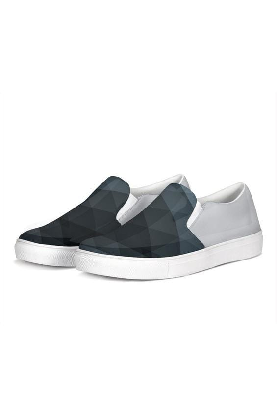 FYC Silver Two Tone Venturer Canvas Slip-On Casual Shoes - Himelhoch's