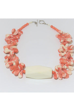 Teardrop Coral Necklace - Himelhoch's