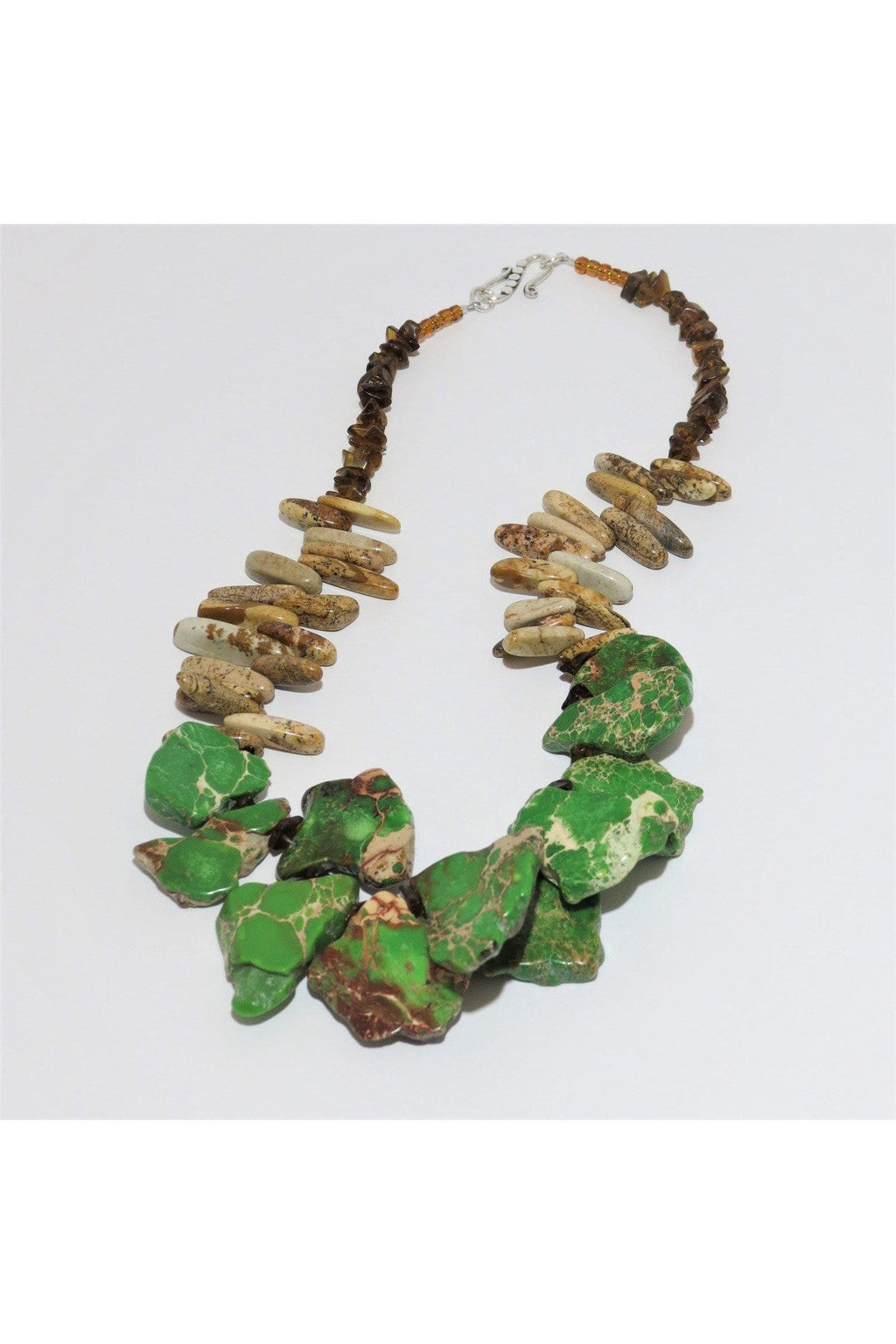 Green Turquoise and Jasper Necklace - Himelhoch's