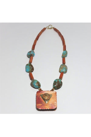Copper and Turquoise Necklace - Himelhoch's