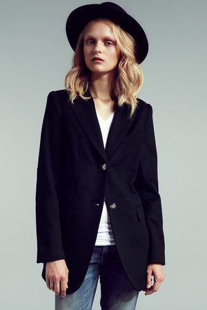 The Catherine Tailored Blazer (Navy) - Himelhoch's