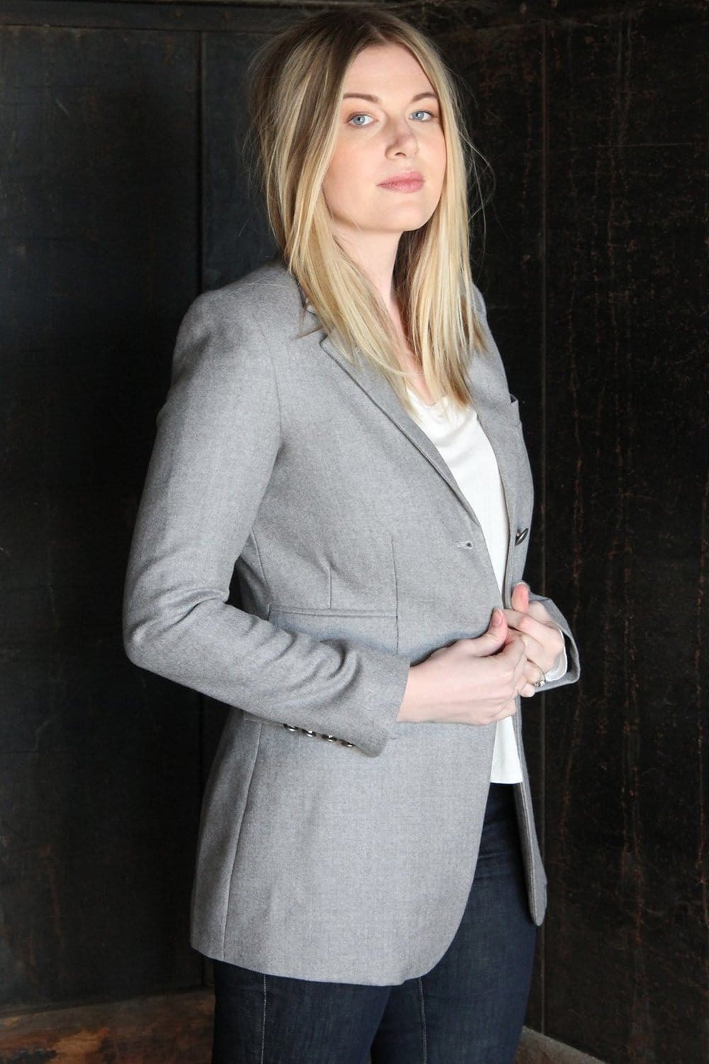 The Catherine Tailored Blazer (Slate) - Himelhoch's