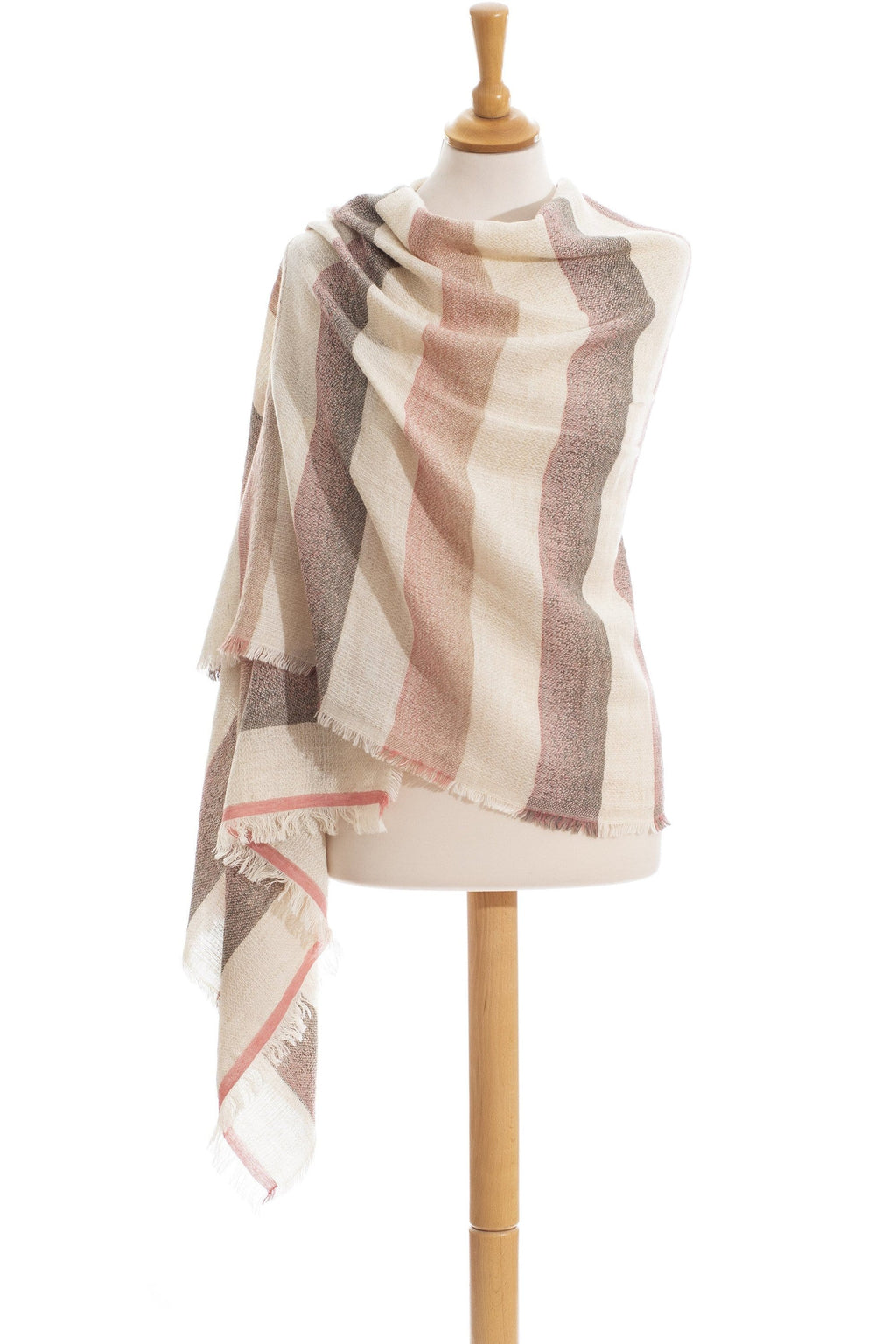 Sunset Crush wool and cotton stole scarf - Himelhoch's
