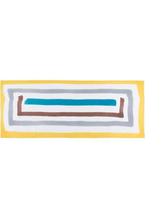 Sarong Pareo yellow line hand painted 100% pure cotton - Himelhoch's