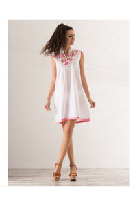 Sleeveless White Tunic - Himelhoch's
